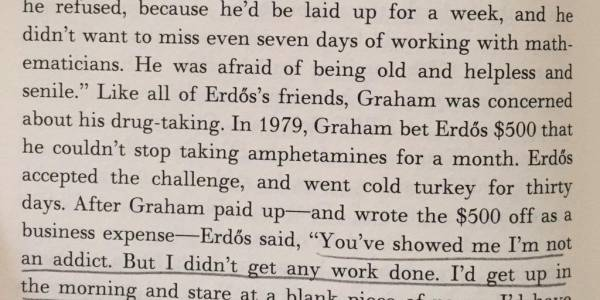 "Mathematician Ronald Graham's ""Amphetamine Bet"" with Paul Erdős"